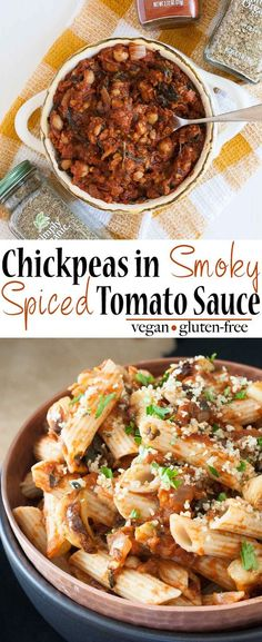Chickpeas in Smoky Spiced Tomato Sauce | www.veggiesdontbite.com