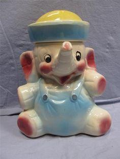 Elephant cookie jars on pinterest cookie jars baby elephants and sailors - Vintage elephant cookie jar ...