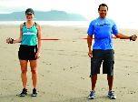 External Rotation Partner Tube Exercise -- strengthens weak rotator cuff muscles