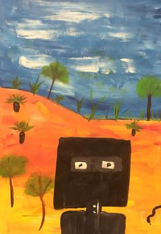 Sidney Nolan Ned kelly series reproduced by SHS students in Grade 5 and 6! Looked at Ned Kelly story and how it inspired Nolan! Good for teaching Australian art and history!