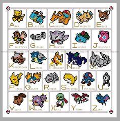 Pokemon Alphabet ABC Cross Stitch - PDF Pattern