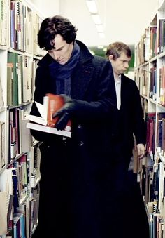 Even Sherlock goes to the Library!