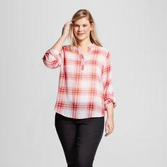 dd6743b1ff6 Women s Plus Size Roll Tab Sleeve Plaid Shirt - Perch (Juniors ) Plus Size