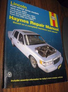 Haynes 59010 Repair Manual Lincoln Rear-Wheel Drive Models 1970-2005