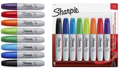 Sharpie Chisel Tip Permanent Markers Eight-Pack Sharpie Set, Eight, Permanent Marker, Ink Color, Markers, Packing, Pens, Mantle, Bag Packaging