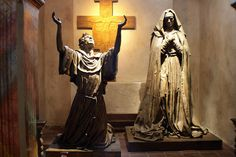 Sculpture of St Francis of Assisi and St Claire of Assisi | Flickr - Photo Sharing!