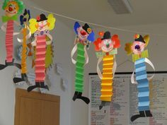 Новости Basteln mit Kids Sie sind an der richtigen Stelle für Bastel Kunstunterricht kunstunterricht fensterdeko Kids Crafts, Clown Crafts, Circus Crafts, Preschool Crafts, Diy And Crafts, Arts And Crafts, Paper Crafts, Carnival Crafts Kids, Carnival Themes