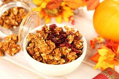 It took a few tries to perfect, but now this recipe will become a favorite, and probably a staple this time of the year.What I like about making granola is how How To Make Granola, Making Granola, Plant Based Recipes, Pumpkin Spice, Spices, Sugar, Baking, Breakfast, Oil