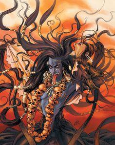 I dream of her. Kali Mata, Kali Shiva, Kali Hindu, Shiva Art, Durga Maa, Shiva Shakti, Hindu Art, Rudra Shiva, Kali Tattoo