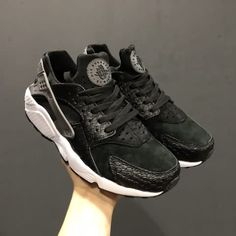 860df5a9a33af Cheap Nike Air Huarache Run PRM AAA Mens Black Fish shoes Only Price  56 To  Worldwide