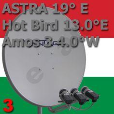 Ungarn / Hungary- Komplett - Anlage :: Satellitenschüssel einstellen und ausrichten auf Astra Hotbird Amos Hungary