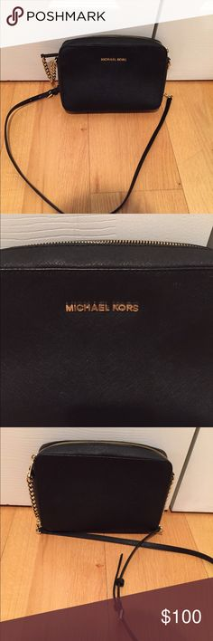 "Michael Kors Jet Set Large Crossbody -Saffiano Leather -Adjustable Shoulder Strap -Two Interior Pouch Pockets -9 x 4 x .75"" -Zip Fastening -Fully Lined -Imported Michael Kors Bags Crossbody Bags"