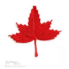Maple Leaf Crochet Dishcloth