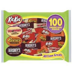 Hershey's Candy Assortment (Hershey's Milk Chocolate, Whoppers, Kit Kat and Reese's Peanut Butter Cups), 100 Pieces Hershey Candy, Hershey Chocolate, Chocolate Bars, Chocolate Recipes, Gourmet Food Store, Gourmet Recipes, Gourmet Foods, Candy Themed Bedroom, Reeses Peanut Butter