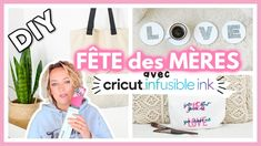 DIY CRICUT INFUSIBLE INK : Idées Cadeaux Fête des Mères Diy Cadeau, Cricut Explore Air, Give It To Me, Youtube, First Mothers Day Gifts, Father's Day, Youtubers, Youtube Movies