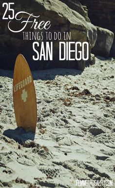 Want to save money on your next trip to America's Finest City? Check out this list of 25 free things to do while in San Diego. They'll keep you so busy you won't have time to spend money! - Travel San Diego - Ideas of Travel San Diego San Diego Vacation, San Diego Travel, Moving To San Diego, California Vacation, California Dreamin', Oceanside California, Carlsbad California, San Diego Living, America's Finest