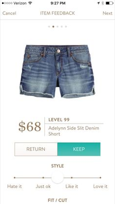 Jeannie - I was hunting for denim shorts last summer and never succeeded.  These Level 99 look great!