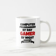 Computer Programmer by Day Gamer by Night Coffee Mug  coffee mug, tea mug #mugs #mugcoffee #mugtea #coolmug #ideas #gift => Check out this mug by clicking the image, have fun :) Please tag, repin & share with your friends who would love it.