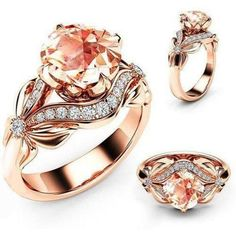 V-MONI New Hot Classic Butterfly Shadow Carats Micro-Inlaid Elegant Temperament Models Ladies Ring Gold 8