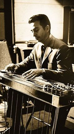 Lloyd Green with the the signature model pedal-steel guitar he designed for the Sho-Bud company in Prior to this, a single on a double-neck cabinet with Country Western Singers, Country Music, Acoustic Guitar Strings, Acoustic Guitars, Pedal Steel Guitar, Guitar Magazine, Slide Guitar, Guitar Stand, Guitar Songs