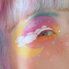 Festival Eye Make Up inspired by Jana Poehlmann Makeup Trends, Makeup Inspo, Makeup Inspiration, Beauty Makeup, Makeup Ideas, Makeup Tools, Makeup Brushes, Fox Makeup, Witch Makeup