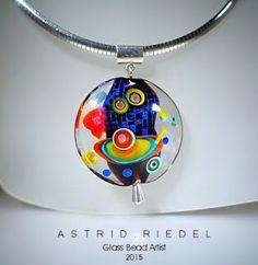 Lampwork bead pendant by Astrid Riedel