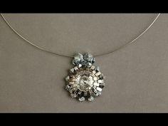 Sidonia's handmade jewelry - Half Tila Silver Sun Pendant - Beading Tutorial - YouTube