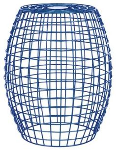 Bella Grid Stool, Dark Blue