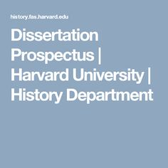 prospectus for a dissertation Prospectus and Dissertation