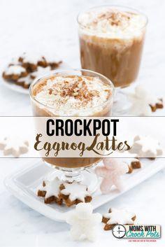Crockpot Eggnog Lattes