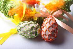 Velikonoční vajíčko obšívané korálky