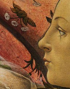 Detail from Birth of Venus, Sandro Botticelli