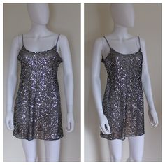 Free People Sheer Sequin Slip Tank Top The perfect layering piece that adds a little pizzaz to your outfits! Slip is made of a sheer mesh material and adorned with sequins throughout. Adjustable straps and dip back. It great condition, only worn a few times. Retails for $80! Wear it under a cropped sweater with a velvet choker!  Brand: Free People Intimates   Size: Medium  Material: 100% Nylon Hand Wash Cold  Measurements:  Bust: 42 inches  Length: 24 inches from neckline Free People Tops…
