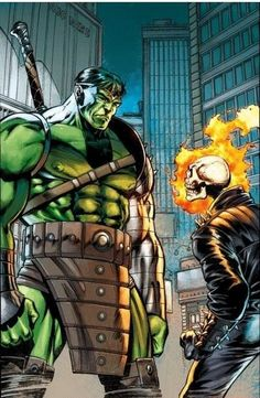 Hulk and Ghost Rider