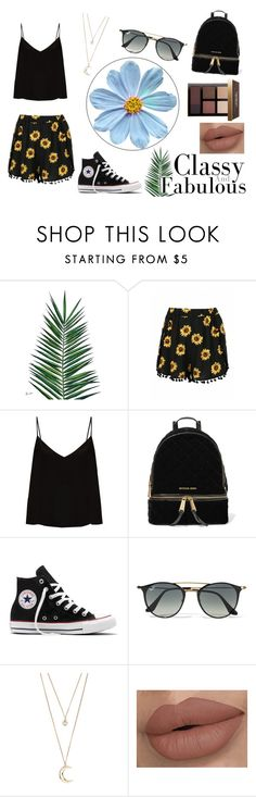 """""""Spring!"""" by valerieetorres ❤ liked on Polyvore featuring Nika, Raey, MICHAEL Michael Kors, Converse, Ray-Ban, Forever 21 and Bobbi Brown Cosmetics"""