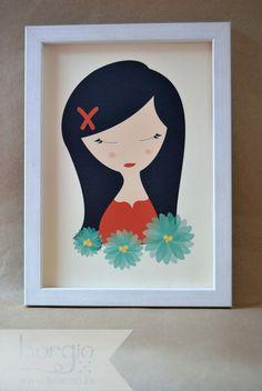 """Emily, de la colección """"Camafeo"""" Disponible en: http://www.borgio.es/laminas-infantiles/"""
