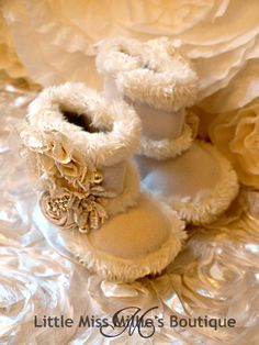 Little Fur Boots from Little Miss Millie's Boutique.