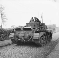 Comet tank of 3rd Royal Tank Regiment, 11th Armoured Division, during the advance towards Lubeck, Germany, 2 May 1945.