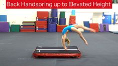 Back Handspring up to an Elevated Height As an athlete works through the progressions for learning a back handspring on beam, adding some additional height i. Back Handspring, Training Tips, Athlete, Floor, Gym, Learning, Sports, Pavement, Hs Sports