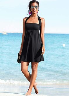 LASCANA Black 2-in-1 Beach Dress- i like that this covers the armpit bulge i can't get rid of!!