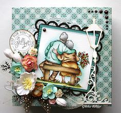 love this image! Mo Manning image. Card by Gretha Bakker