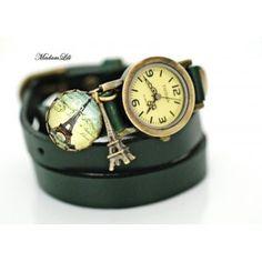 MadamLili - skórzany zegarek Paris