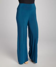 This Teal Palazzo Pants - Plus is perfect! #zulilyfinds