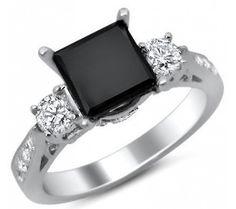 Black Stone Engagement Rings