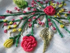 Brazilian embroidery.     Thank you, Grandma Beth, for sharing this beautiful talent with us...love it !