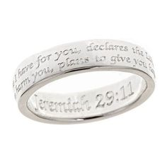 Jeremiah 29:11 Sterling Silver Ring |  Sterling Silver Rings Online |  - Best Prices and the Best Selection on Rings Online!