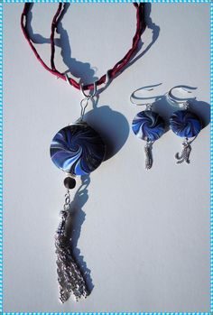 Fimo Swirl-Set in blau