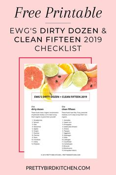 The Dirty Dozen & Clean Fifteen 2019 - Learn all about the Dirty Dozen and Clean Fifteen, plus get a free printable list to keep for easy reference! Which fruits and vegetables you should buy organic and which ones are okay to buy non-organic. Fruits And Vegetables List, Healthy Vegetables, Non Organic, Eating Organic, Organic Living, Plant Based Diet, Plant Based Recipes, Healthy Eating Articles, Clean Fifteen