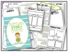 Free Writing Printables: Stupendous Story Elements (35-Page Packet)