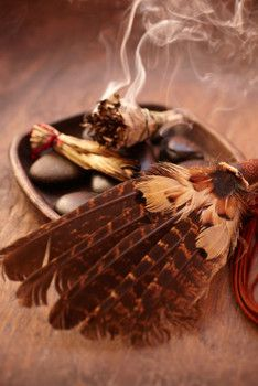 Reiki and Smudging Herbs.     Smudging is a Native American spiritual cleansing technique. It involves the burning of specific herbs for spiritual and emotional purification of a person, place or object. While smudging, the area fills with smoke which attaches itself to negative energy and carries it away as the smoke clears..(Article)